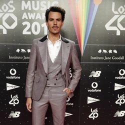 Juan Avellaneda en la cena de los nominados de Los 40 Music Awards 2019