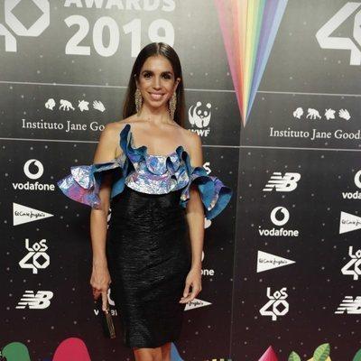 Elena Furiase en la cena de los nominados de Los 40 Music Awards 2019