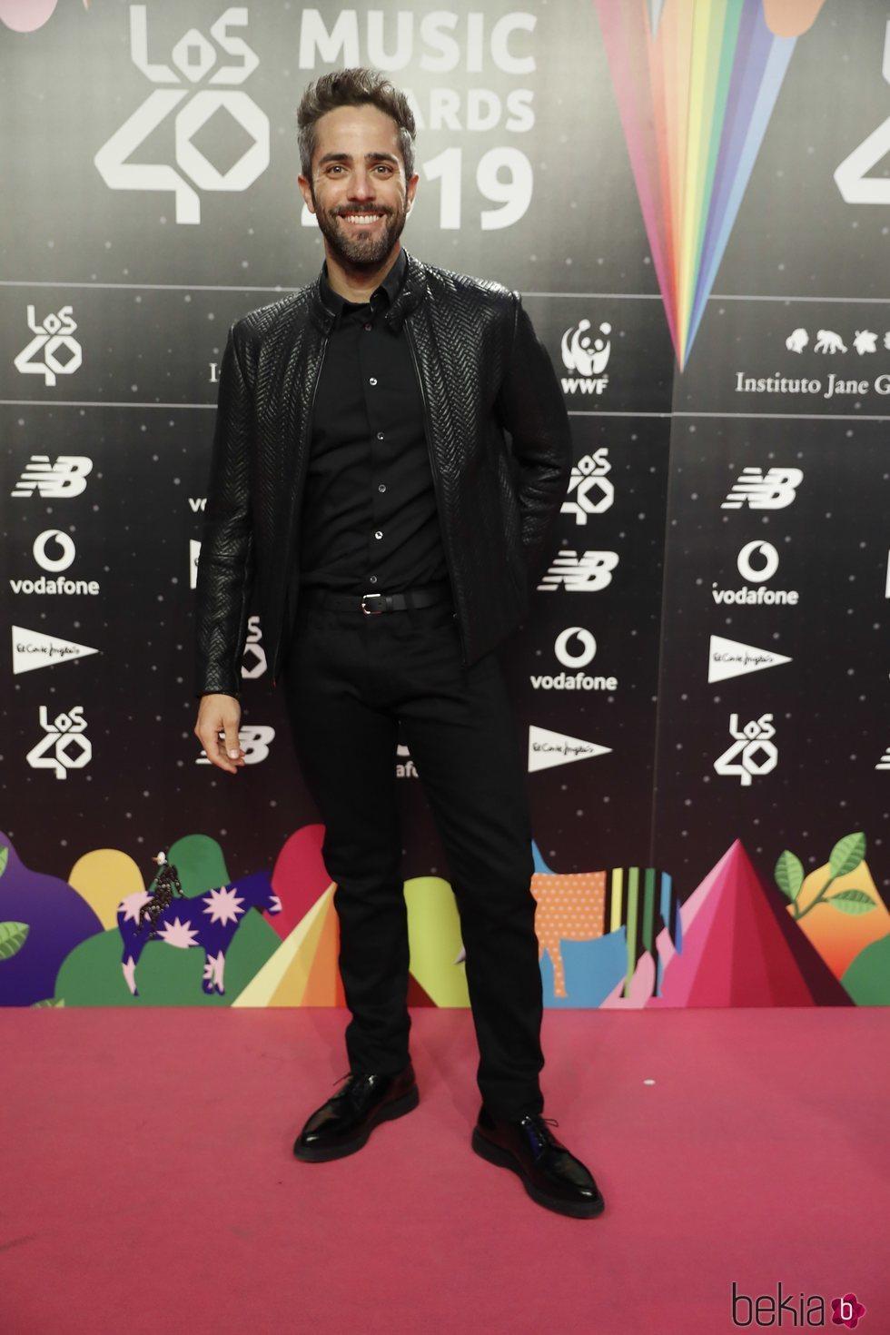 Roberto Leal en la cena de los nominados de Los 40 Music Awards 2019