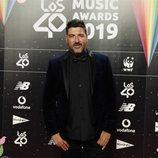 Tony Aguilar en la cena de los nominados de Los 40 Music Awards 2019
