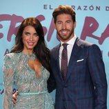 Pilar Rubio con Sergio Ramos en la presentación de su documental 'El corazón de Sergio Ramos'