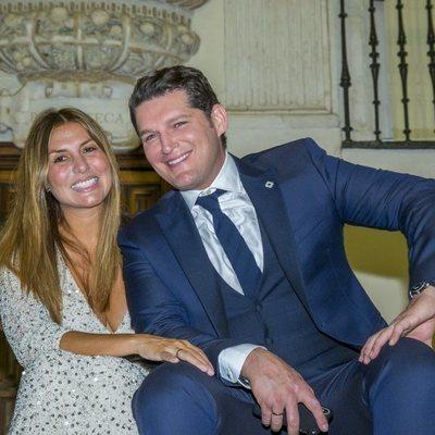 Manu Tenorio y Silvia Casas en los Premios Escaparate 2019
