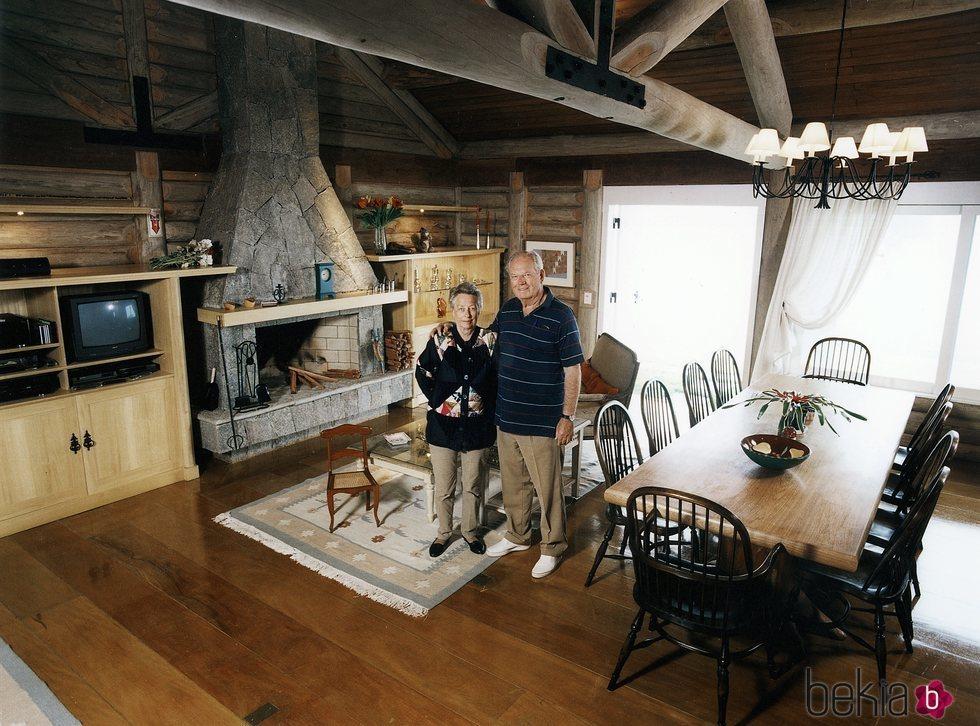 La Princesa Ragnhild y Erling Lorentzen en su casa de Brasil