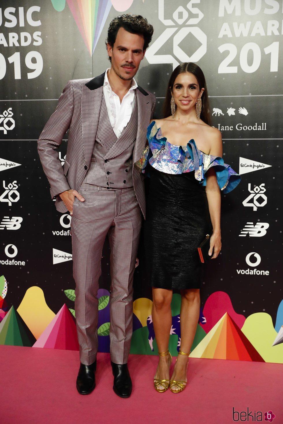 Elena Furiase y Juan Avellaneda en la cena de los nominados de Los 40 Music Awards 2019