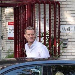 Iñaki Urdangarin en su primera salida de la cárcel