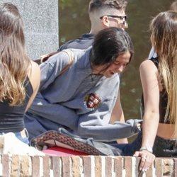 Victoria Federica ríe divertida en su primer día de universidad