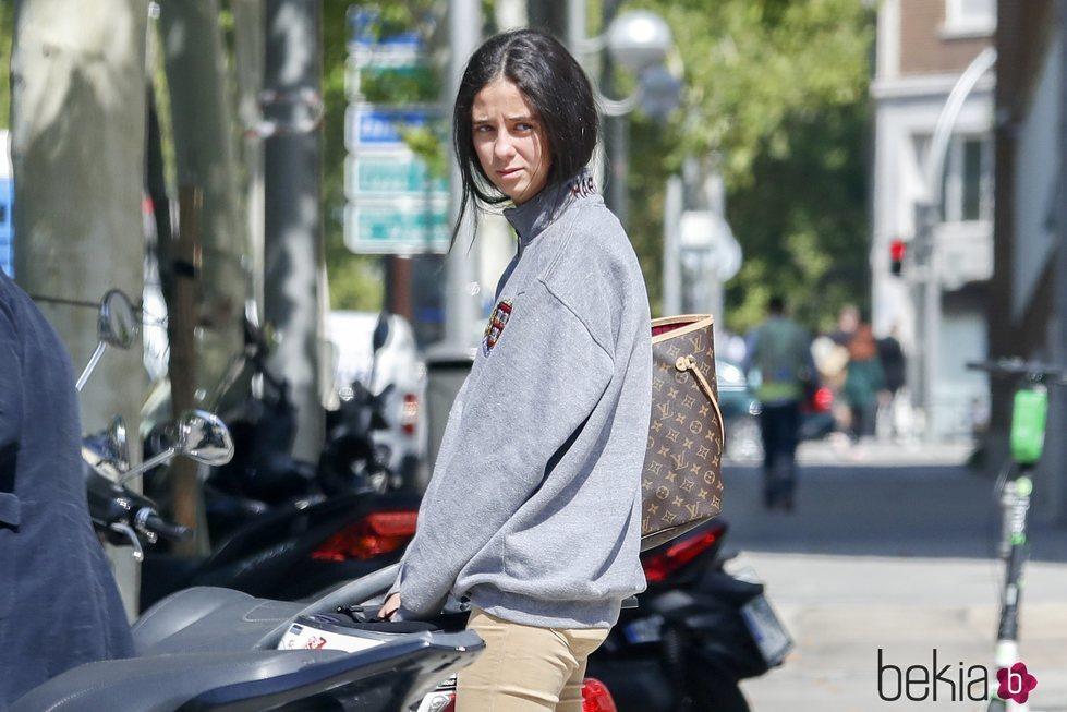 Victoria Federica en su primer día de clase en el CIS de Madrid