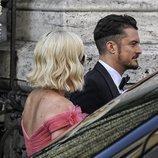 Katy Perry y Orlando Bloom en la boda de Misha Nonoo y Michael Hess