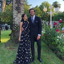 Feliciano López y Sandra Gago en una boda
