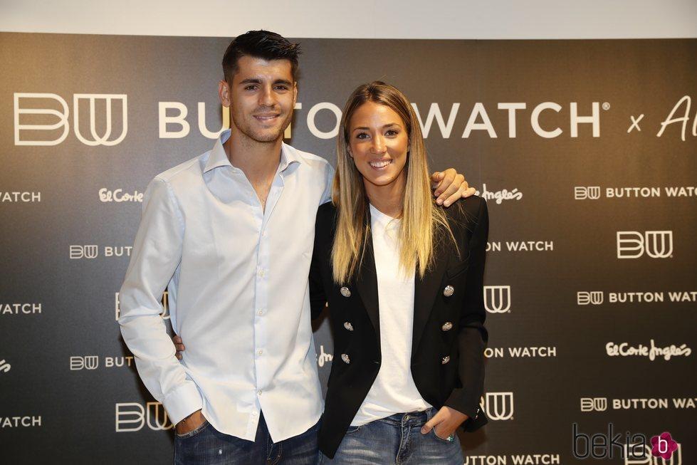 Álvaro Morata y Alice Campello en un evento de relojes