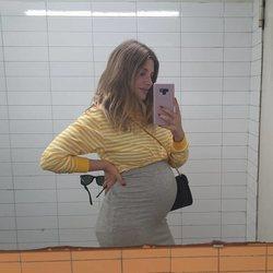 Miriam Giovanelli presumiendo de embarazo
