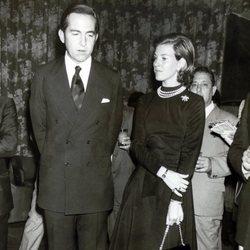Constantino y Ana María de Grecia cuando eran jóvenes
