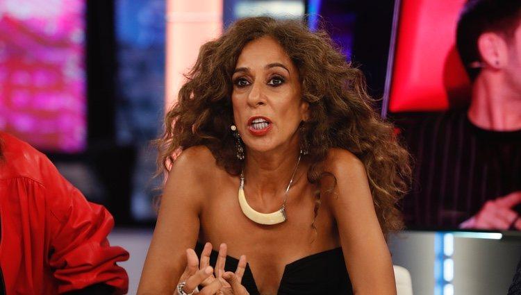 Rosario Flores en 'El hormiguero' junto al resto de coaches de 'La Voz Kids'