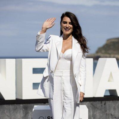 Penélope Cruz llegando al Festival de Cine de San Sebastián 2019