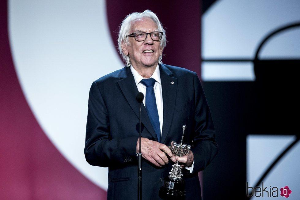 Donald Sutherland recibe el Premio Donostia en el Festival de Cine de San Sebastián 2019