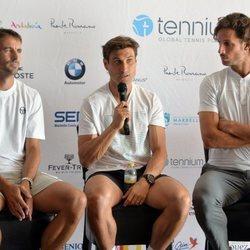 Feliciano López con algunos compañeros en la IV Senior Masters Cup de Marbella 2019