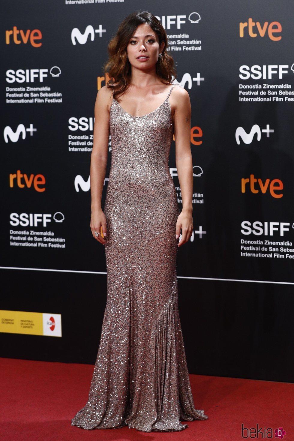 Anna Castillo en la clausura del Festival de Cine de San Sebastián 2019
