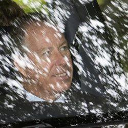 David Armstrong-Jones de camino a la iglesia en Balmoral