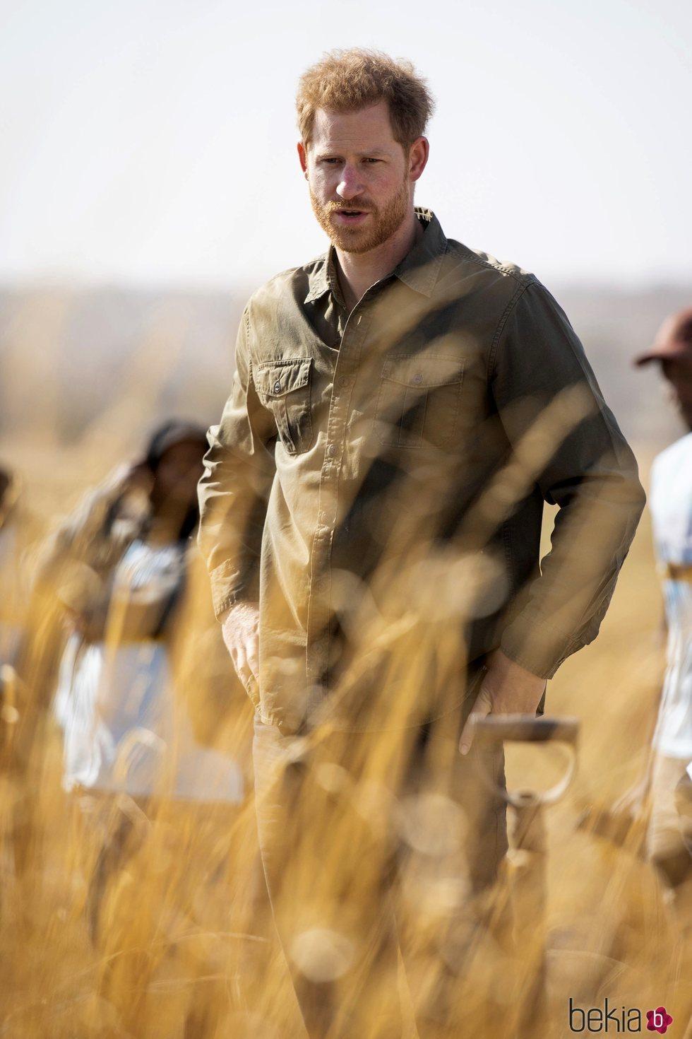 El Príncipe Harry en Botsuana