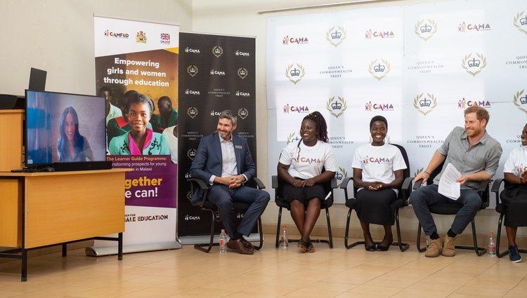 Meghan Markle interviene por videoconferencia en un acto oficial del Príncipe Harry en Malawi