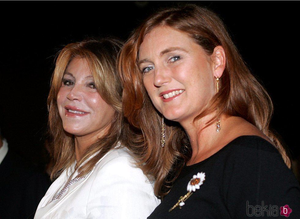 Tita Cervera junto a Francesca Thyssen