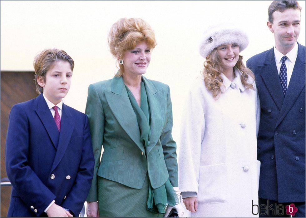 Borja Thyssen, Tita Cervera, Francesca Thyssen y Carlos de Hasburgo