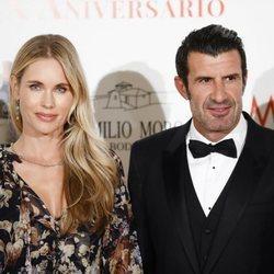 Luis Figo y Helen Svedin en la Gala del XX aniversario de 'Malleolus Bodegas'