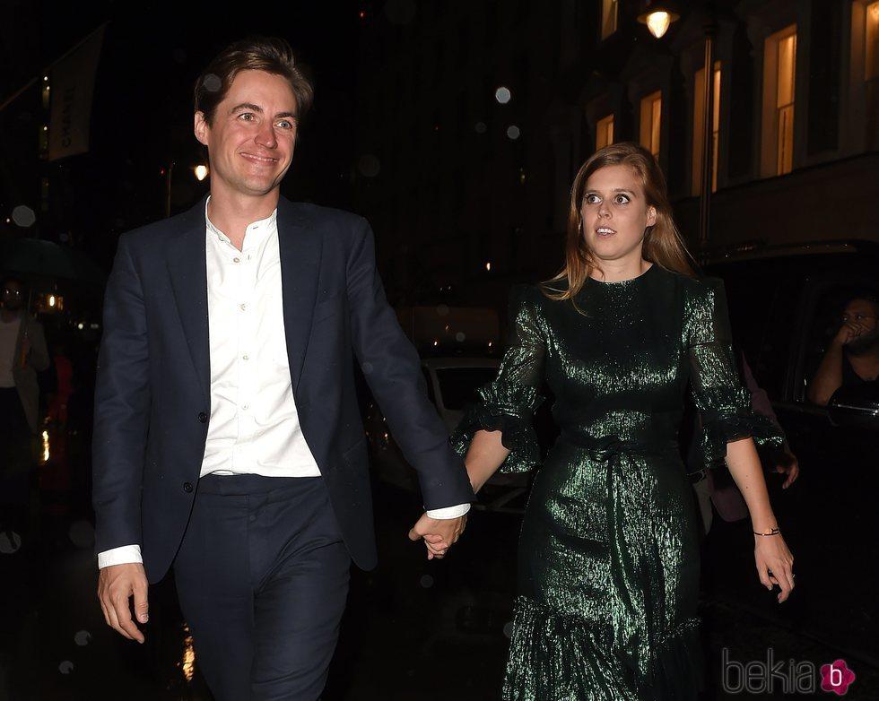 Beatriz de York y Edoardo Mapelli Mozzi reaparecen tras anunciar su compromiso