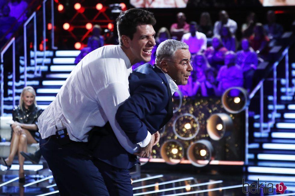 Jorge Javier Vázquez y Diego Matamoros, divertidos en la gala 5 de 'GH VIP 7'