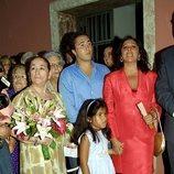 Isabel Pantoja con su madre Doña Ana y sus hijos, Kiko Rivera y Chabelita Pantoja