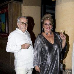 Carmina Barrios en la fiesta de cumpleaños de Paco León