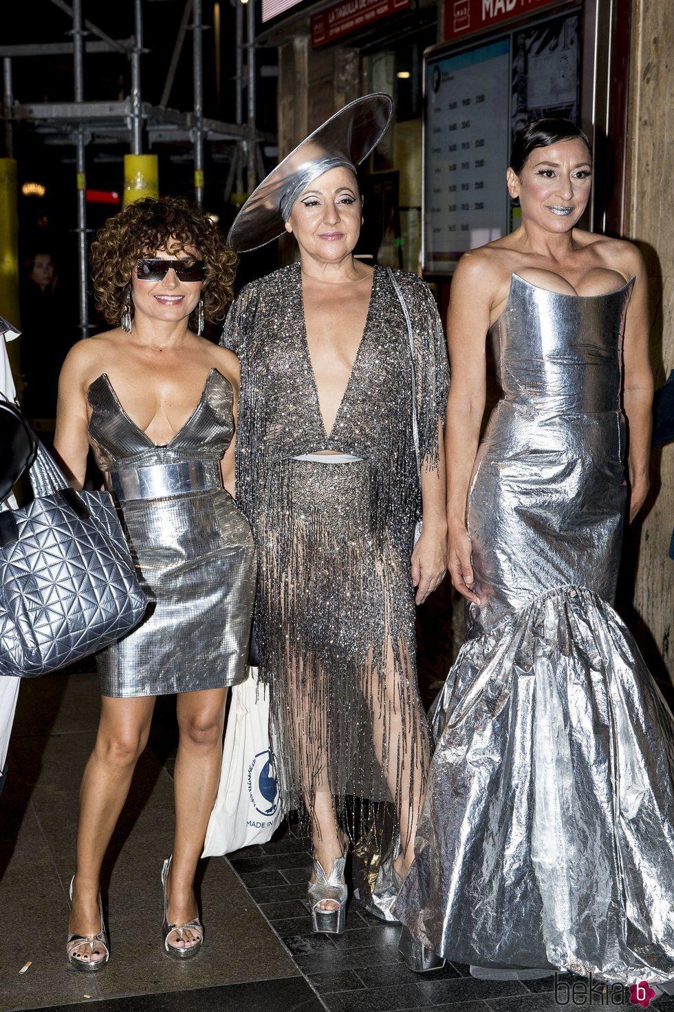 Carmen Machi, Mariola Fuentes y Anna Costa en la fiesta de cumpleaños de Paco León