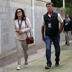 Cayetano Martínez de Irujo y Bárbara Mirjan en el club de Polo de Barcelona