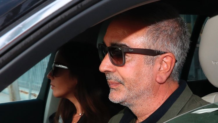 Anabel Pantoja y Agustín Pantoja en el hospital en el que está ingresada Doña Ana