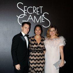 Louis Ducruet, Marie Chevallier y Camille Gottlieb en Secret Games