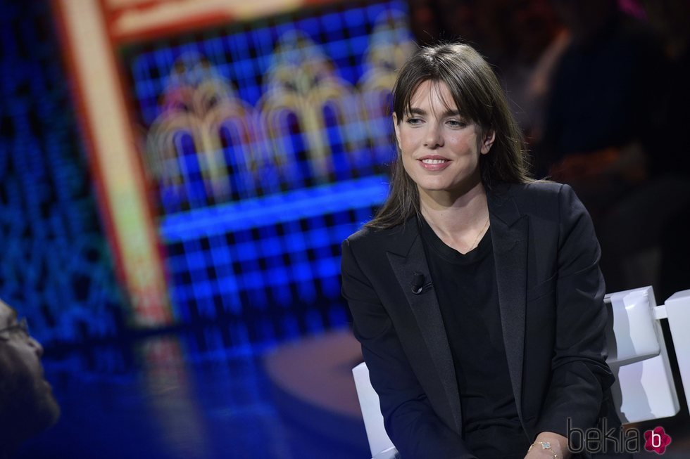 Carlota Casiraghi en una entrevista televisiva