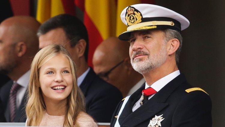 El Rey Felipe y la Princesa Leonor en el Día de la Hispanidad 2019