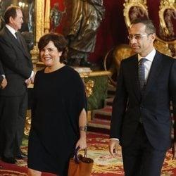 Soraya Sáenz de Santamaría e Iván Rosa en la recepción por el Día de la Hispanidad 2019