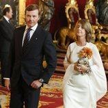 Pedro de Borbón-Dos Sicilias y Sofía Landaluce en la recepción por el Día de la Hispanidad 2019