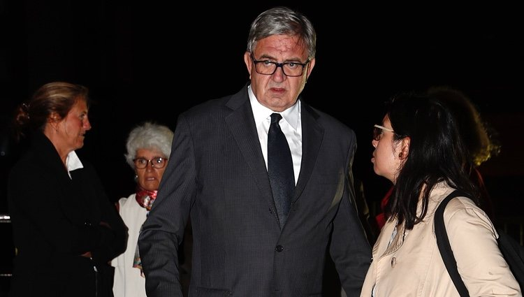 Carlos García Revenga en el funeral de Germán López Madrid