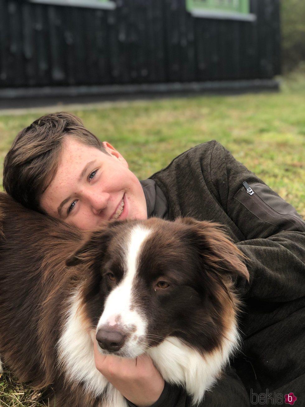Christian de Dinamarca, muy cariñoso con su perra Grace