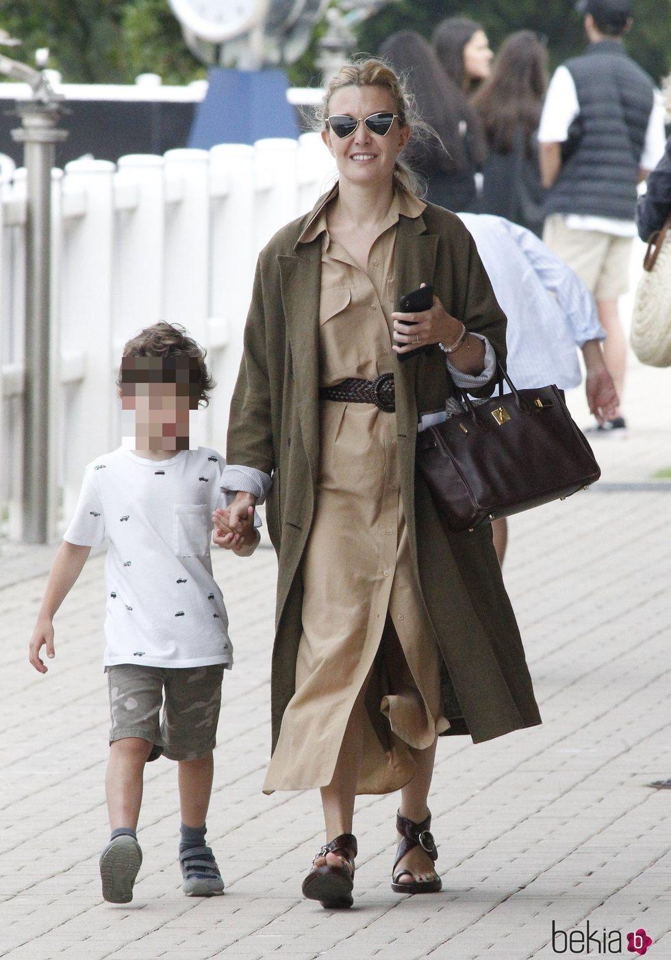 Marta Ortega con su hijo Amancio en el Concurso de Saltos Casas Novas 2019
