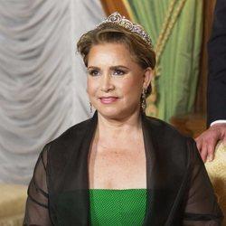 María Teresa de Luxemburgo en la cena por la Visita de Estado de los Reyes de Bélgica