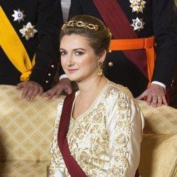 Stéphanie de Luxemburgo en la cena por la Visita de Estado de los Reyes de Bélgica