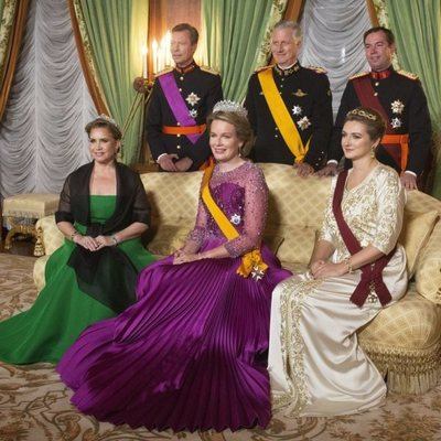 Los Grandes Duques de Luxemburgo, Guillermo y Stéphanie de Luxemburgo con Felipe y Matilde de Bélgica
