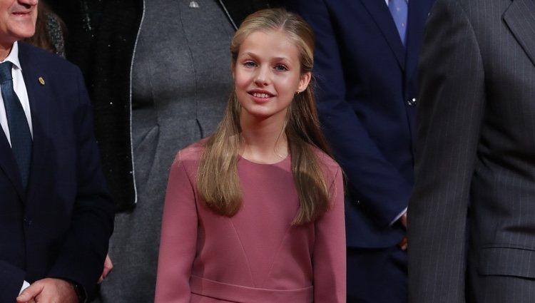 La Princesa Leonor en la recepción previa a los Premios Princesa de Asturias 2019