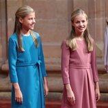 La Princesa Leonor y la Infanta Sofía en la recepción previa a los Premios Princesa de Asturias 2019