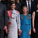 La Reina Letizia y la Infanta Sofía en la recepción previa a los Premios Princesa de Asturias 2019