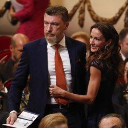 Robert Gavin Bonnar y Telma Ortiz llegando a los Premios Princesa de Asturias 2019