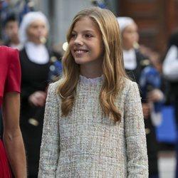 La Infanta Sofía a su llegada a los Premios Princesa de Asturias 2019